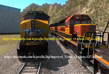 Improved Trains v3.4 beta for ATS 1.37 open beta