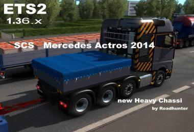 Mercedes-Benz Actros 2014 Heavy Chassi 8x4 1.36