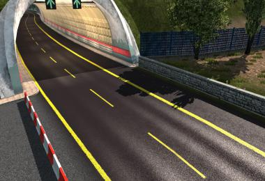 Road Yellow Stripes ETS2 1.36