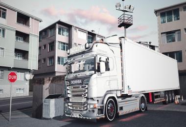 Scania R400 V8 Crackle Sound + Trailer 1.36
