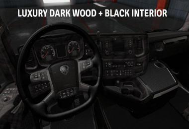 Scania S & R 2016 Luxury Wood + Black Interior 1.36.x