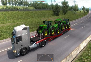 Trailers for transporting tractors and equipment in traffic 1.36