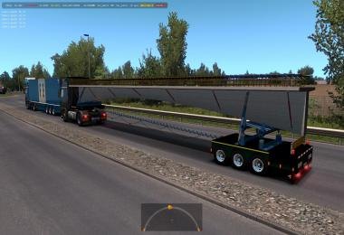 Trailers with construction structures in traffic 1.36