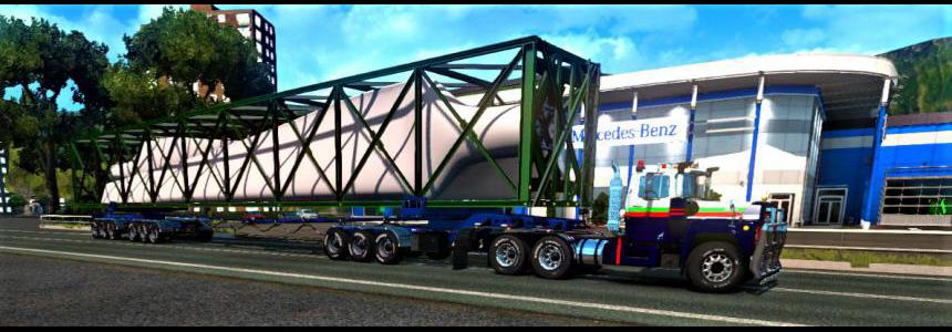 Overweight 9 axle Dolly Trailer 200 Tons+ 1.36