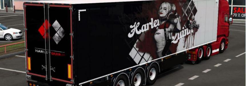 Harley Quinn Skin for Scs Trailers 1.36