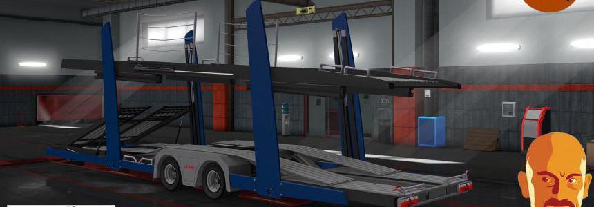 LOHR CAR TRANSPORT TRAILER ETS2 DX11 1.36.x
