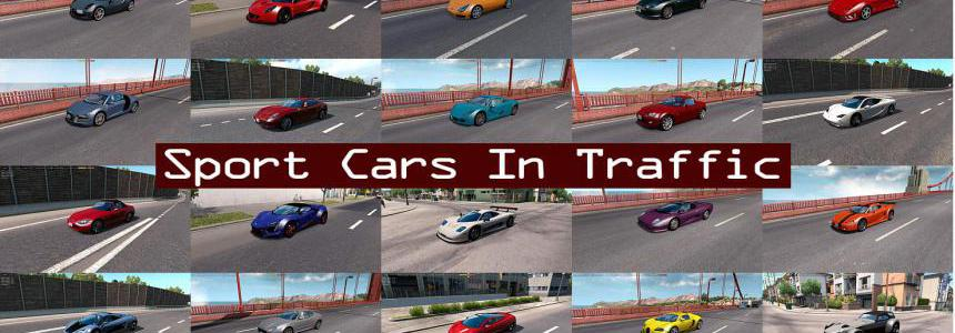 Sport Cars Traffic Pack (ATS) by TrafficManiac v6.0.1