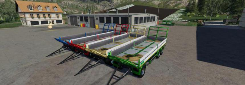 Trailer 3 Axle With Platform For Scania S580 Truck v1.1