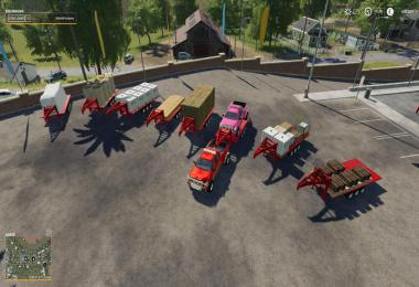 2014 Pickup with semi-trailer and autoload v1.9