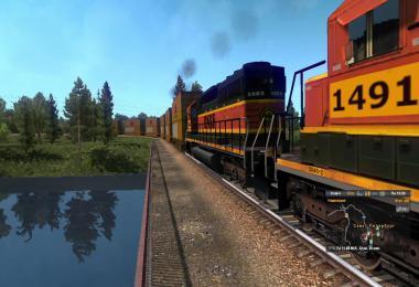 American Improved Trains in ETS2 v3.3