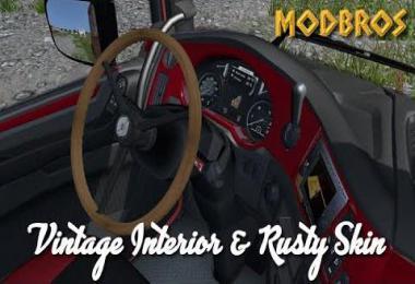 Daf Euro 6 Vintage Interior and Rusty Skin v1.0
