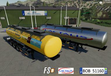 FS19 Trailer Milk Lactalis By BOB51160 v1.9