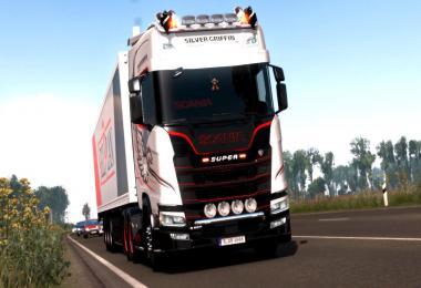 Red & Dark Interior for Scania S/R v1.0