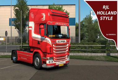 RJL Scania HOLLAND skin v1.0
