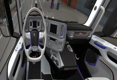 SCANIA S 2016 Interior White with Blue v1.0