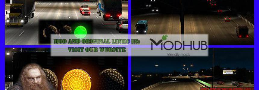 AI Realistic lights v3.0 For ATS 1.37.x