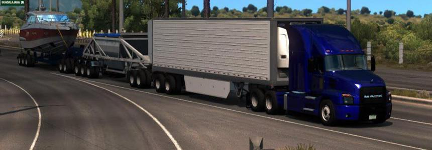 [ATS] 93-RP Mod Triple Trailer MP v1.0