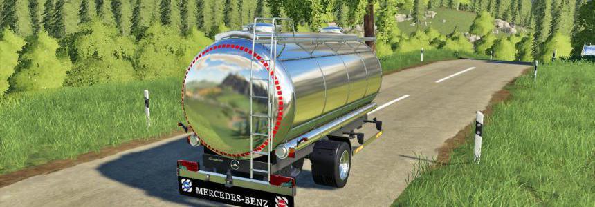 Mercedes Tanker Trailer FS19 v1.0