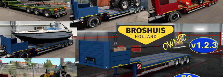 Ownable overweight trailer Broshuis v1.2.3