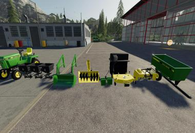 John Deere 332 Lawn Tractor with Lawn Mower and Garden v2.0