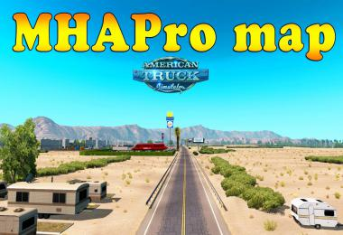 MHAPro Map for ATS by MsHeavyAlex 1.37.x