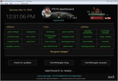 FS19 Dashboard v3.0