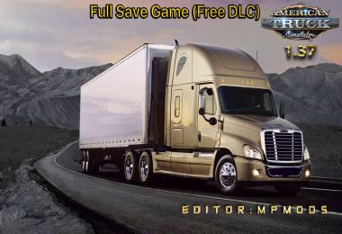 Full Save Game ATS (Free DLC) MpMods 1.37