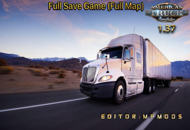 Full Save Game ATS Full Map MpMods 1.37