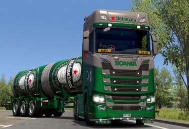 Heineken Scania & Trailer skin 1.37
