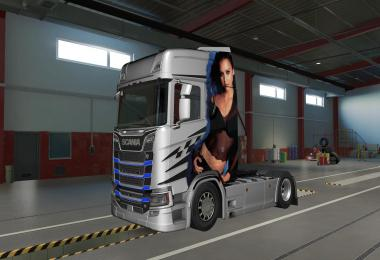Jessica Alba Paintjob for Scania S 2016