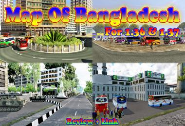 Map OF Bangladesh v2.0 1.36 & 1.37