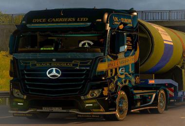 Mercedes Actros MP4 Dyce Carriers skin v1.0