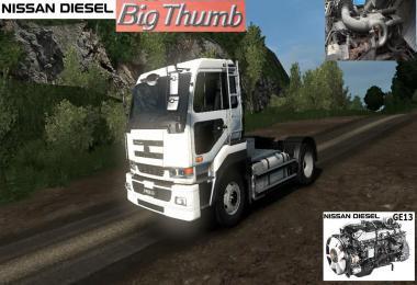Nissan Diesel GE13 Sound for NISSAN DIESEL BIG THUMB v1.0