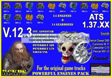 Pack Powerful Engines + Gearboxes v12.3 for ATS 1.37.x