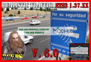 Realistic traffic v6.0 For ETS2 v1.37