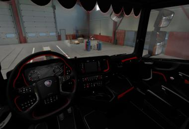 Red & Dark Interior for Scania S/R 1.37