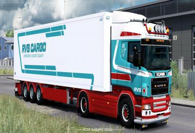 RVS Cargo Scania R and Ekeri Trailer Skinpack v1.0