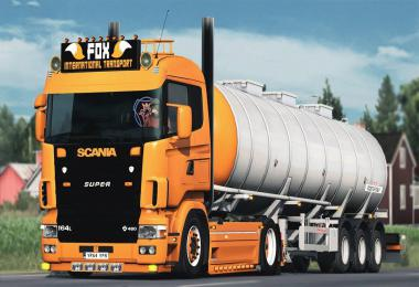 Scania 4 Series V8 Open Pipe Sound 1.37
