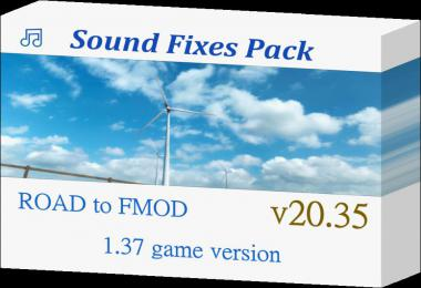 Sound Fixes Pack v20.35  ATS + ETS2 1.37