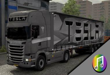 Tesla Truck & Trailer skin v1.0