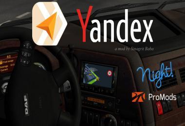 Yandex Navigator Night Version for ProMods v1.6