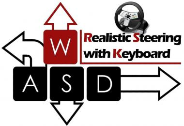 [ATS] Realistic Steering with Keyboard - v3.0