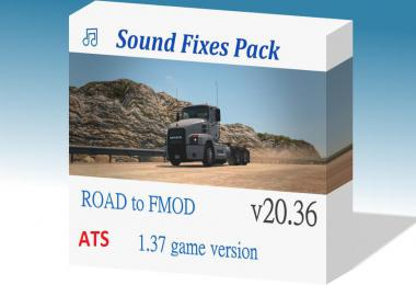 [ATS] Sound Fixes Pack v20.36.1 1.37.x