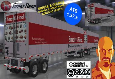 GREAT DANE TRAILERS SINGLE & DOUBLE ATS 1.37.x