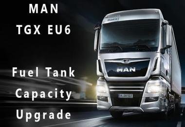 MAN TGX Euro 6 Fuel Capacity Upgrade v1.0