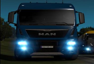 Man TGX euro6 blue xenon lights v1.0