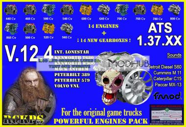 Pack Powerful Engines + Gearboxes v12.4 for ATS 1.37.x