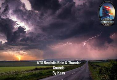 Realistic Rain & Thunder Sounds V2.1 ATS 1.37