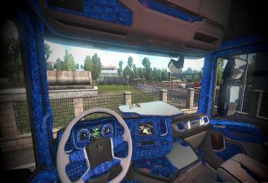 Scania S Blue Pluche Interior Danish Style v1.0 1.37.x