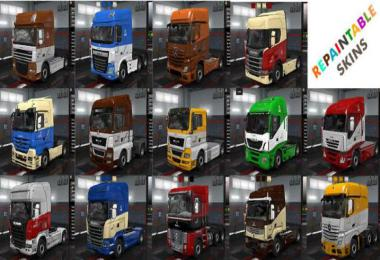 Wolf Repaintable Truck and owned Trailers Skin v1.9